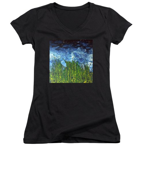 Night Sky 2007 Women's V-Neck T-Shirt