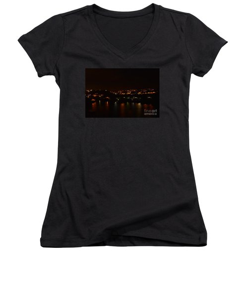 Nightscape Women's V-Neck (Athletic Fit)