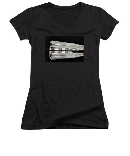 Nighttime Reflections Women's V-Neck (Athletic Fit)