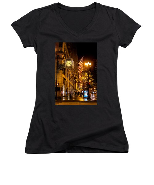 Nine Twenty Two Women's V-Neck T-Shirt (Junior Cut) by Melinda Ledsome