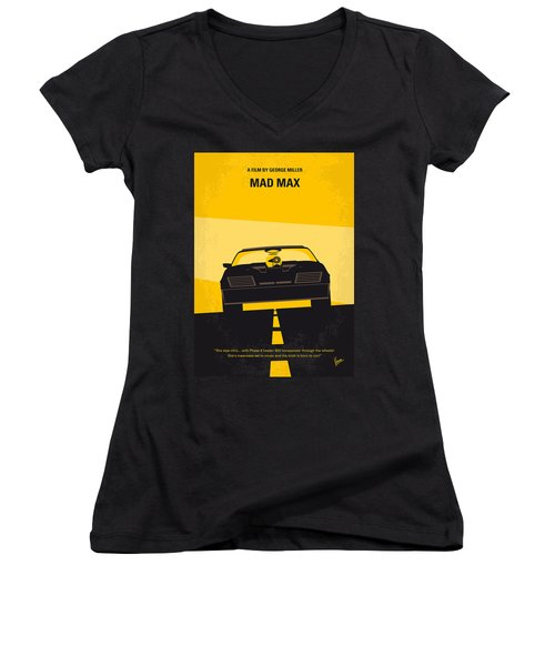 No051 My Mad Max Minimal Movie Poster Women's V-Neck