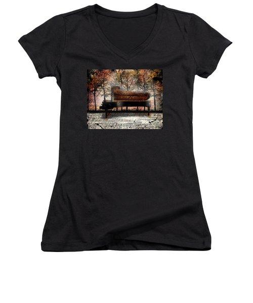 Nocturne  Women's V-Neck T-Shirt