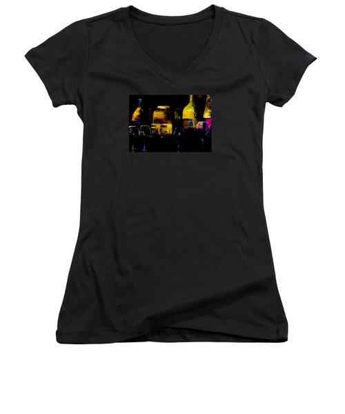 Nostalgic For Two Women's V-Neck T-Shirt (Junior Cut) by Lisa Kaiser