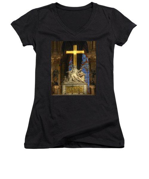 Notre Dame Pieta Women's V-Neck