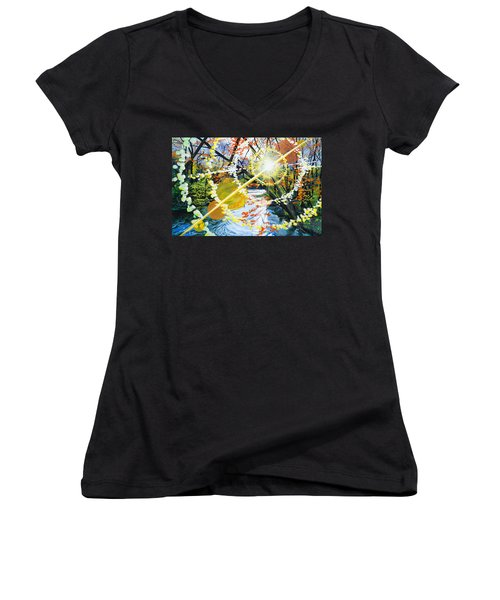 The Glorious River Women's V-Neck