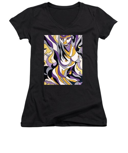 Nude6 Women's V-Neck T-Shirt