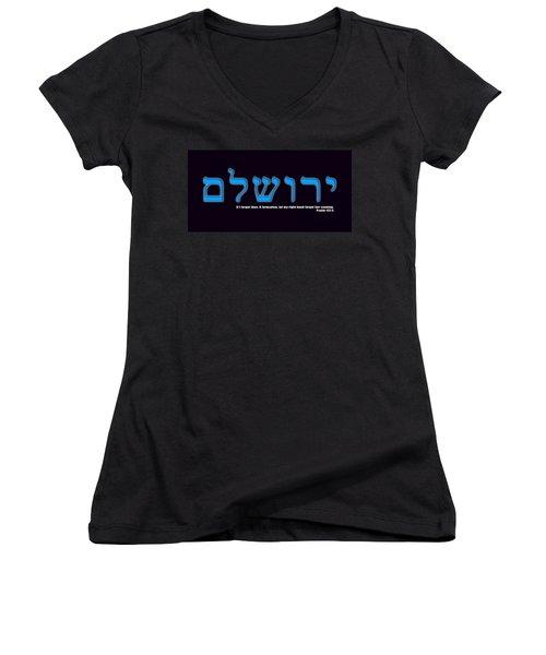 O Jerusalem Women's V-Neck