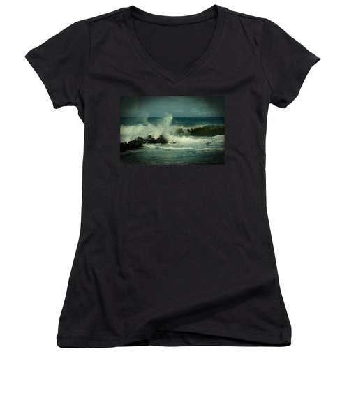 Ocean Impact - Jersey Shore Women's V-Neck