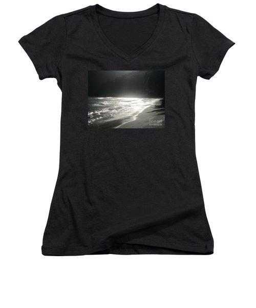 Ocean Smile Women's V-Neck T-Shirt (Junior Cut) by Fiona Kennard