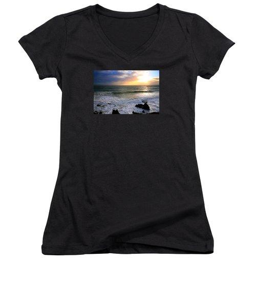 Ocean Sunset 84 Women's V-Neck