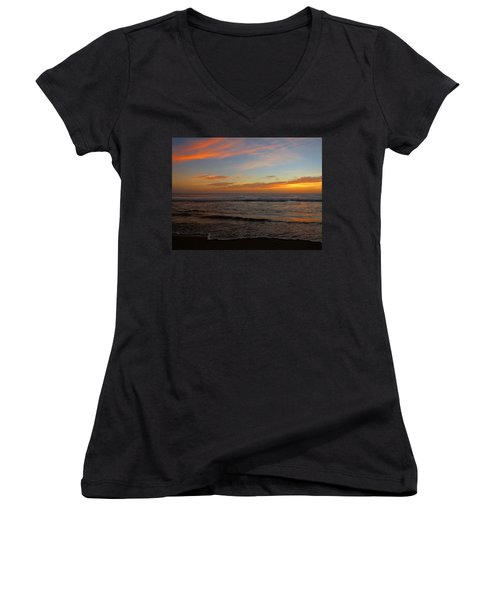 October Beauty Women's V-Neck T-Shirt (Junior Cut) by Dianne Cowen