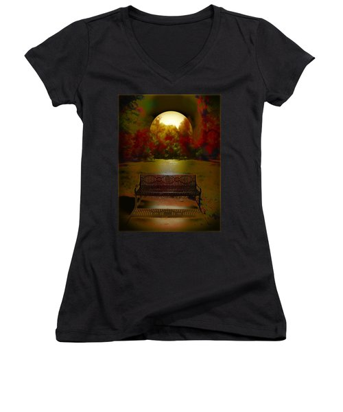 October Moon Women's V-Neck T-Shirt