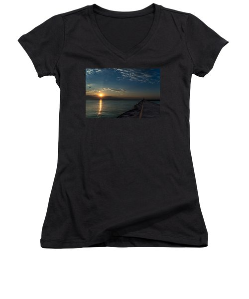 October Sunrise Women's V-Neck