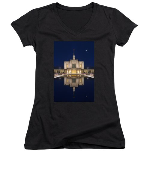 Ogden Temple Reflection Women's V-Neck