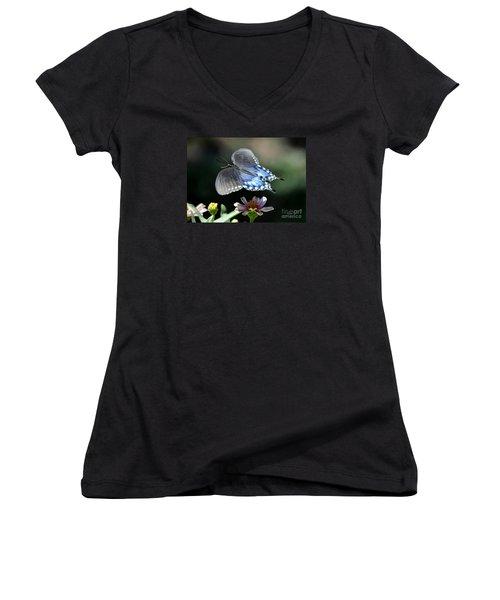 Oh Heavenly Garden Women's V-Neck T-Shirt (Junior Cut) by Nava Thompson