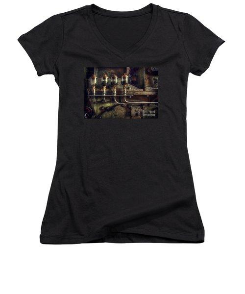 Oil Valves Women's V-Neck T-Shirt