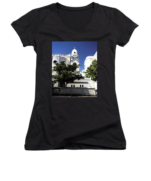 Old Church Women's V-Neck