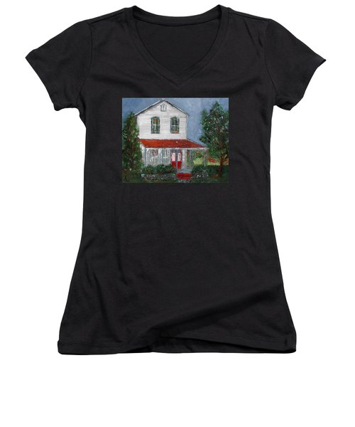 Old Farm House Women's V-Neck (Athletic Fit)