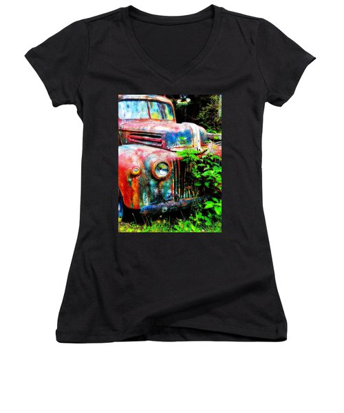 Old Ford #2 Women's V-Neck (Athletic Fit)