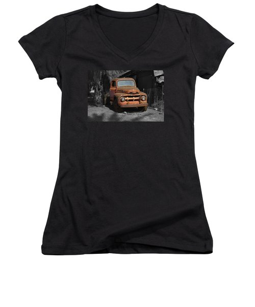 Old Ford Truck Women's V-Neck (Athletic Fit)