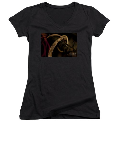 Old Frayed Wires Women's V-Neck (Athletic Fit)
