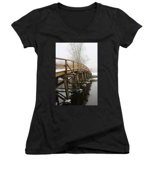 Old North Bridge Women's V-Neck T-Shirt