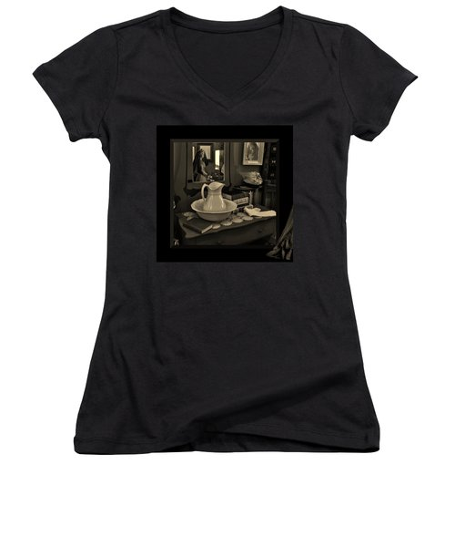 Women's V-Neck featuring the photograph Old Reflections by Barbara St Jean