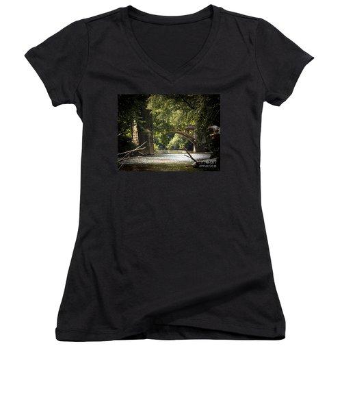 Old Stone Bridge Women's V-Neck T-Shirt