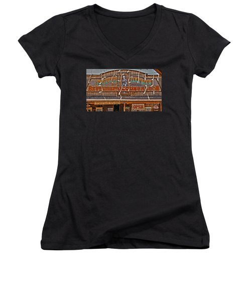 Old Town Saloon Women's V-Neck T-Shirt