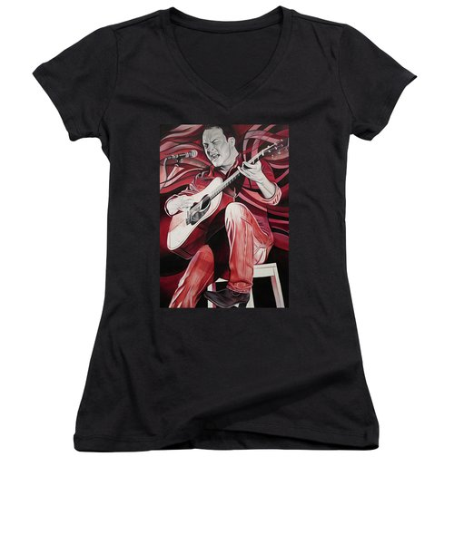On Bended Knees Women's V-Neck T-Shirt (Junior Cut) by Joshua Morton