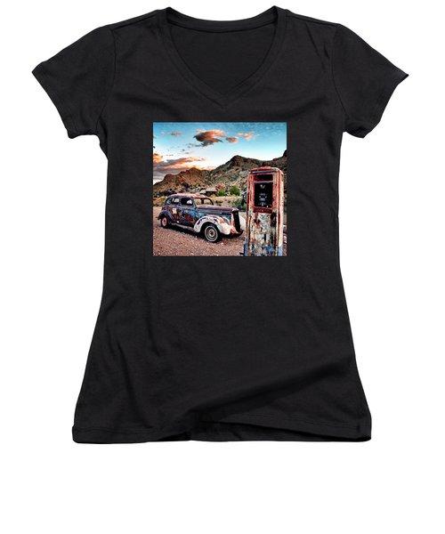 On Empty Women's V-Neck T-Shirt (Junior Cut)