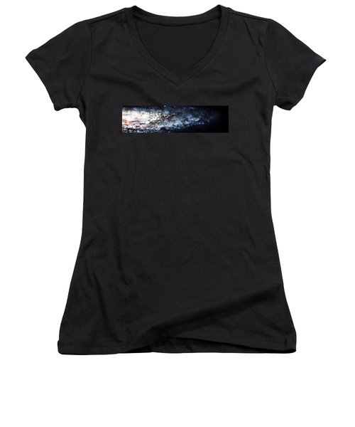 On The Galaxy Edge Women's V-Neck T-Shirt