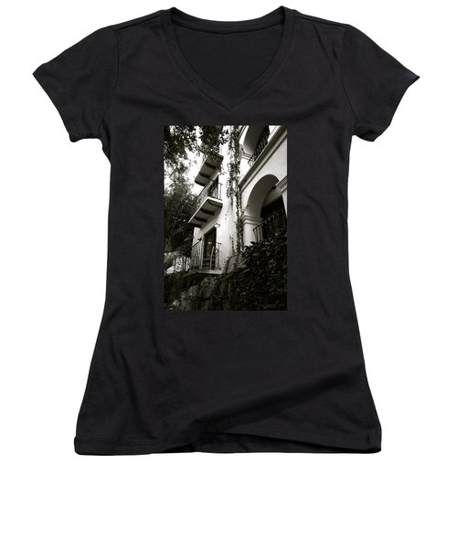 On The River Women's V-Neck T-Shirt (Junior Cut) by Shawn Marlow