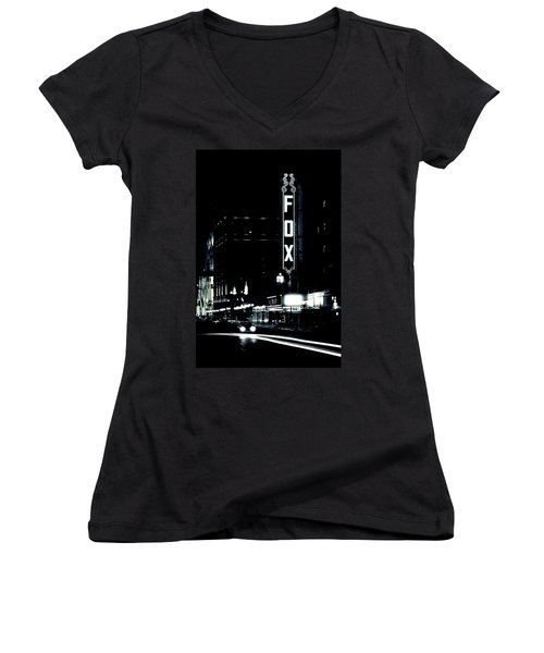 On The Town Women's V-Neck (Athletic Fit)