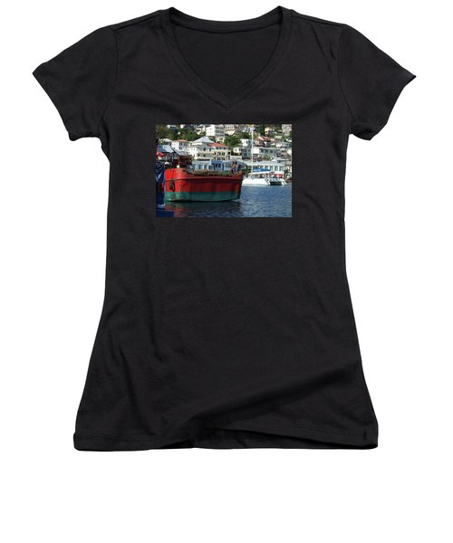 On The Water Women's V-Neck (Athletic Fit)