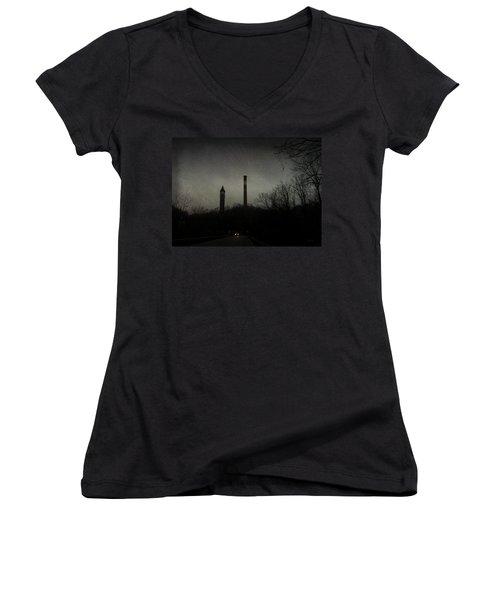 Oncoming Women's V-Neck T-Shirt (Junior Cut) by Cynthia Lassiter