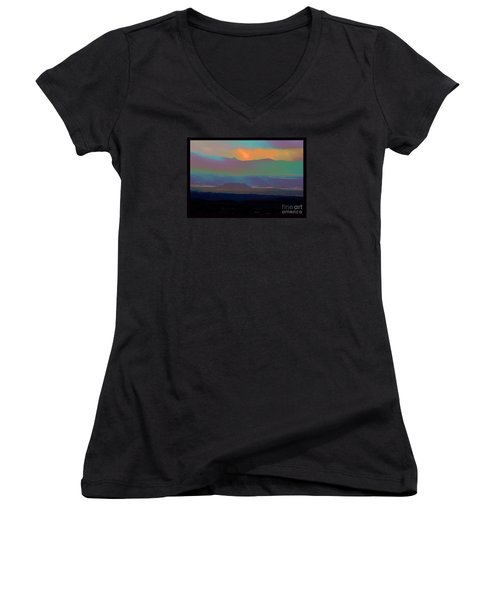 Women's V-Neck T-Shirt (Junior Cut) featuring the photograph One Enchanted Evening by Susanne Still