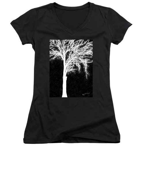 One More Tree Women's V-Neck T-Shirt (Junior Cut) by Kume Bryant
