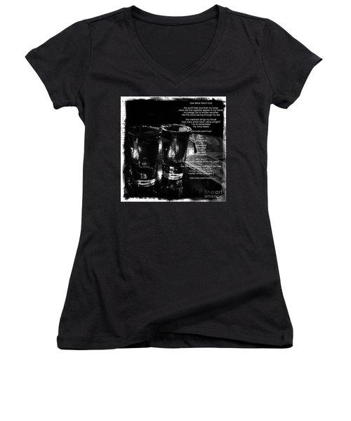 Women's V-Neck T-Shirt (Junior Cut) featuring the photograph One More Won't Hurt by James Aiken