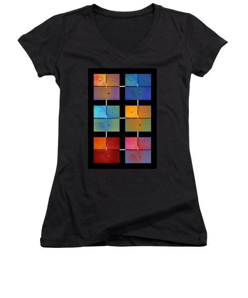 One To Eighteen - Colorful Rust - All Colors Women's V-Neck