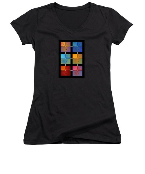 One To Eighteen - Colorful Rust - All Colors Women's V-Neck T-Shirt (Junior Cut) by Menega Sabidussi