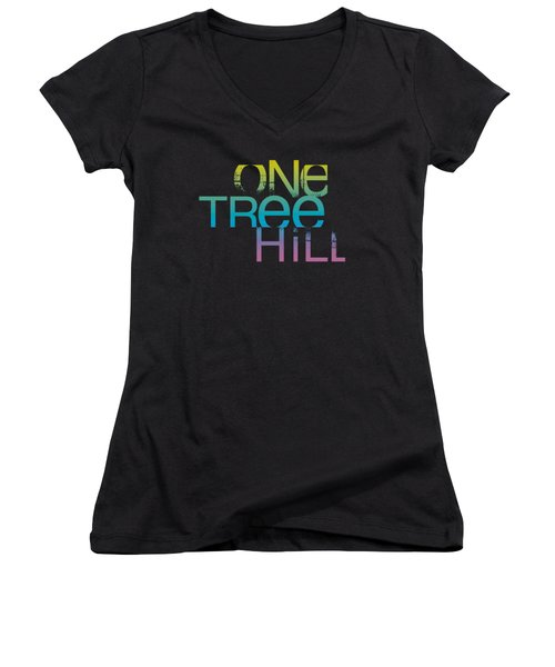 One Tree Hill - Color Blend Logo Women's V-Neck T-Shirt