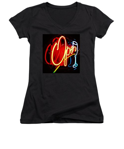 Open Women's V-Neck T-Shirt (Junior Cut) by Daniel Thompson