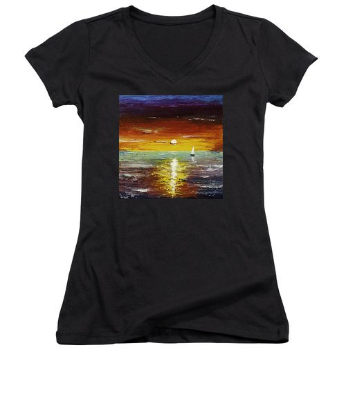 Open Sea Women's V-Neck (Athletic Fit)