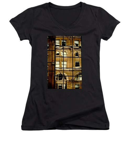 Women's V-Neck T-Shirt featuring the photograph Open Windows by Christiane Hellner-OBrien