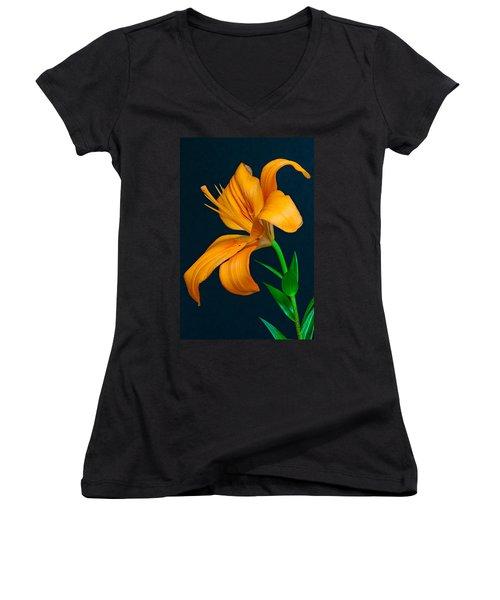 Orange Lily Profile Women's V-Neck