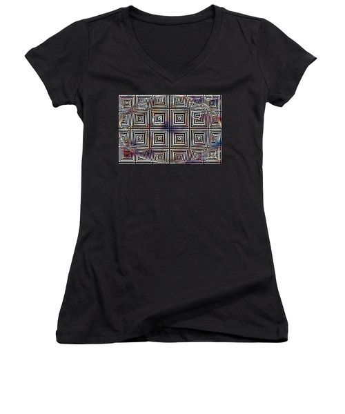 Orb Women's V-Neck T-Shirt (Junior Cut) by Cynthia Lagoudakis