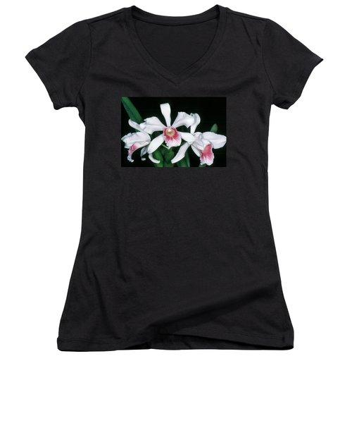 Orchid 10 Women's V-Neck T-Shirt (Junior Cut)