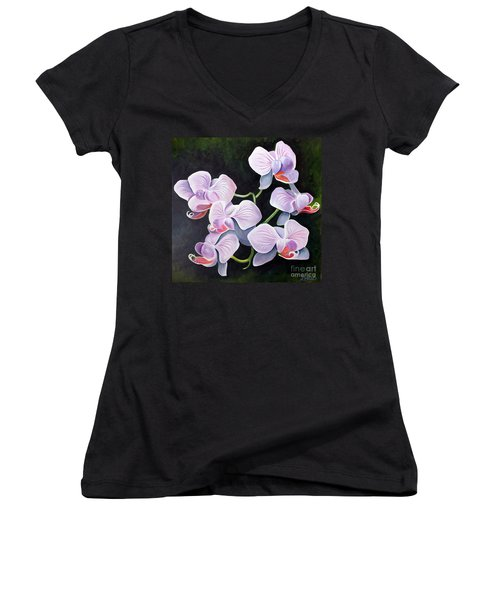 Orchids II Women's V-Neck (Athletic Fit)