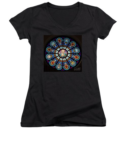 Our Blessed Mother Women's V-Neck T-Shirt